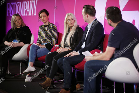 Editorial image of Millennials: Meet Your Future Boss seminar, Advertising Week Europe 2017, Fast Company Stage, Picturehouse Central, London, UK - 22 Mar 2017