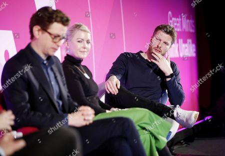 Kieran Long (Keeper of the Design, Architecture and Digital Department, V and A Museum), Jo Twist (CEO, UKIE) and Rick Edwards (Presenter of BBC3?s Free Speech, and author of ?None of The Above?)