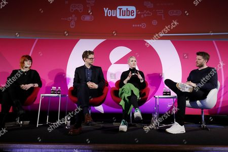George Panayotopoulos (Global Gaming Content and Partnerships, Youtube), Hollie Bennett (Community Manager, Sony), Kieran Long (Keeper of the Design, Architecture and Digital Department, V and A Museum), Jo Twist (CEO, UKIE) and Rick Edwards (Presenter of BBC3?s Free Speech, and author of ?None of The Above?)
