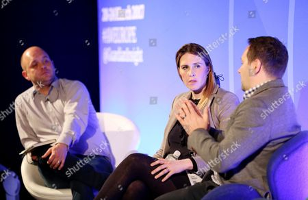 Michael Smith (Agency Director, Cheetah Mobile), Celine Saturnino (Chief Commercial Officer, Total Media) and Rhys Denny (International Director of Business Development, Verve)