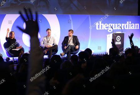 Nina dos Santos (Europe Editor, CNNMoney), Chris Cardew (Head of Strategy, Mindshare) and James Hunt (VP, Create, CNN International Commercial)