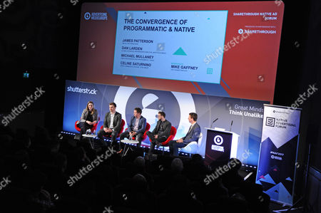 Celine Saturnino (Chief Commercial Officer, Total Media), James Patterson (GM UK, The Trade Desk), Michael Mullaney (Director of Audience and Programmatic, UK Yahoo), Dan Larden (Global Strategic Partnerships Director, Infectious Media) and Mike Gaffney (CRO, Sharethrough)