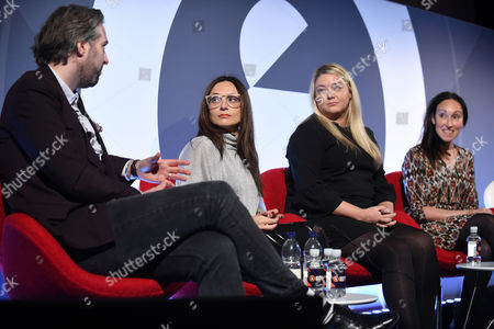 Oliver Lewis (Director of Digital Strategy, News UK), Tia Castagno (Global Head of Innovation and Content, Vizeum), Lauren Dick (Head of Emerging Platforms, Mail Online) and Alicia Navarro (CEO & Co-Founder, Slimlinks)