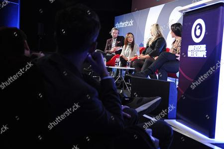 Oliver Lewis (Director of Digital Strategy, News UK), Tia Castagno (Global Head of Innovation and Content, Vizeum), Lauren Dick (Head of Emerging Platforms, Mail Online), Alicia Navarro (CEO & Co-Founder, Slimlinks) and Ben Putley (Strategic Partner Director, Sharethrough)