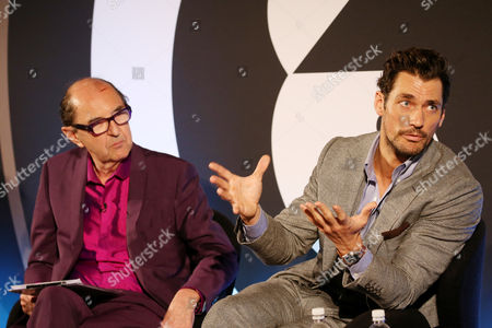 Robin Wight (President, Engine) and David Gandy (Model, Designer, Philanthropist) speaking at a Time Inc. UK event at Advertising Week Europe