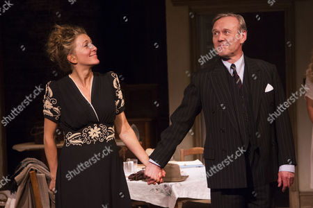 Eve Best (Olivia Brown) and Anthony Head (Sir John Fletcher) during the curtain call