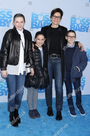 Stock Picture of Delphine Krakoff with her children