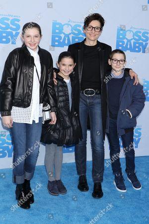 Delphine Krakoff with her children
