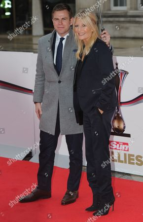 Gaby Roslin And Matt Barbet Arrives At The Military Awards Red Carpet Arrivals At The Military Awards Guildhall London.