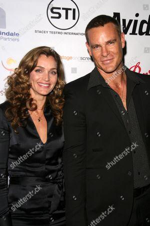 Stock Photo of Vanessa Gray and Aaron Jeffery