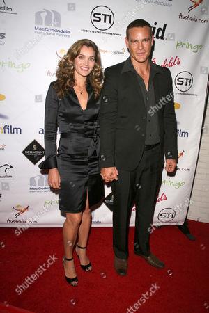 Vanessa Gray and Aaron Jeffery