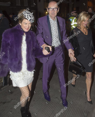 Robin Wight And His Wife Countess Paola Von Kovacz Arriving For A Fund Raising Event At The Annual Conservative Party Black And White Ball At The Brewery In The City Of London. 08.02.16.