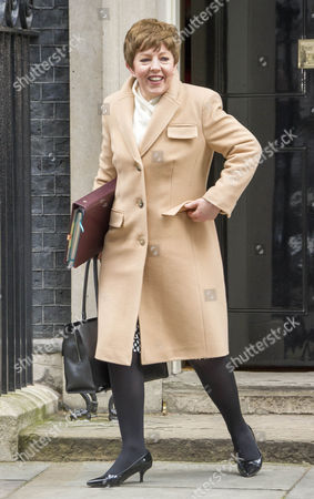 Stock Image of Cabinet Meeting At Downing Street Today 23nd Feb 2016. Baroness Anelay.