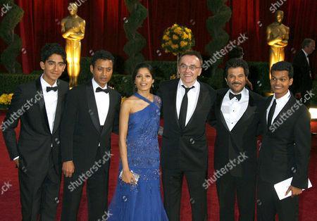 Slumdog Millionaire :  Dev Patel, Irrfan Khan, Freida Pinto, Danny Boyle, Anil Kapoor, Madhur Mittal