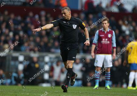 Referee Mark Halsey Awards the Decisive Penalty to Southampton United Kingdom Birmingham