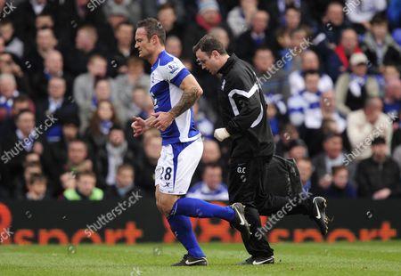 Martin Jiranek of Birmingham City Leaves the Field to Receive Treatment For an Injury United Kingdom Birmingham