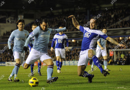 Carlos Tevez of Manchester City Scores the Opening Goal of the Game Past A Diving Martin Jiranek of Birmingham City 0-1 United Kingdom Birmingham