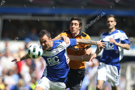 Stephen Ward of Wolves in Action with Martin Jiranek of Birmingham City United Kingdom Birmingham