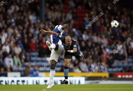 Editorial photo of Blackburn Rovers V Manchester City - 25 Apr 2011
