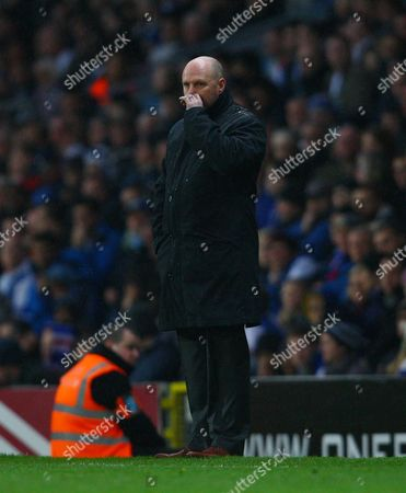 Blackburn Rovers Manager Steve Kean Looks Dejected United Kingdom Blackburn