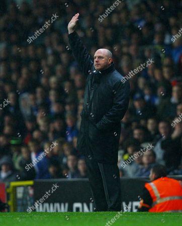 Blackburn Rovers Manager Steve Kean Holds Up His Hand United Kingdom Blackburn