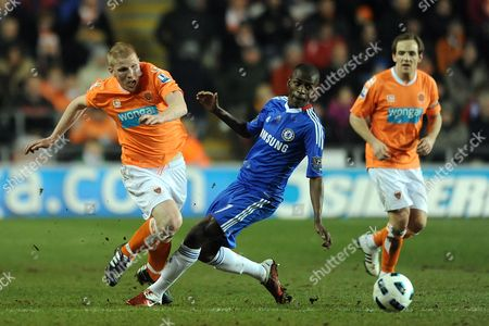 Keith Southern of Blackpool and Ramires of Chelsea United Kingdom Blackpool