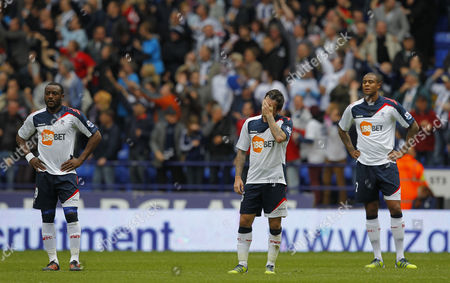 Nigel Reo-coker Mark Davies and Zat Knight of Bolton Wanderers Shows A Look of Dejection After James Morrison of West Bromwich Albion Scores the Late Equaliser 2-2 United Kingdom Bolton