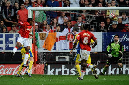 Akpo Sodje of Charlton Athletic Scores Past Leeds United Goalkeeper Shane Higgs 1-0 United Kingdom London