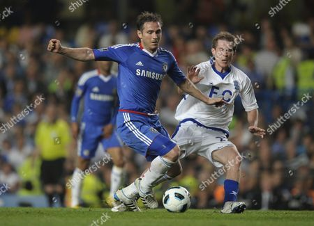 Frank Lampard of Chelsea and Alexander Hleb of Birmingham City United Kingdom London