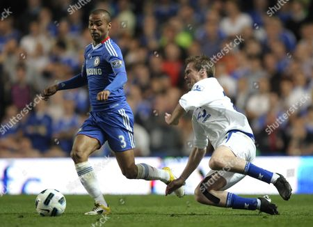 Ashley Cole of Chelsea and Alexander Hleb of Birmingham City United Kingdom London