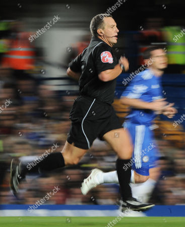Referee Alan Wiley Recently Criticised Over His Fitness by Sir Alex Ferguson Sprints Up the Pitch United Kingdom London