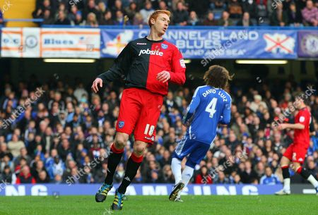 Dave Kitson of Portsmouth Reacts After Missing A Good Chance to Give His Side the Lead United Kingdom London