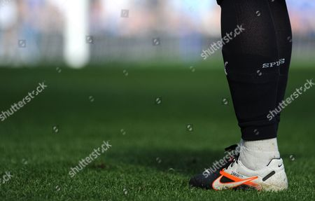 The Personalised Nike Boot of Rafael Van Der Vaart of Tottenham Hotspur with the Name of His Son Damian Stitched Into the Side United Kingdom London