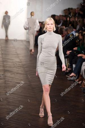 Stock Photo of Katia Kokoreva on the catwalk