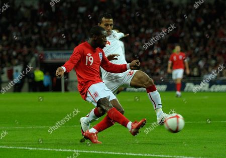 Shaun Wright-phillips of England Crosses the Ball Past Mohamed Abdel Shafy of Egypt For the Assist to Peter Crouch of England 3-1 United Kingdom London