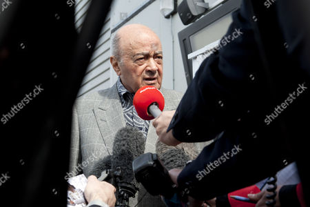 Michael Jackson Statue Unveiling with Fulham Chairman Mohammed Al Fayed United Kingdom London