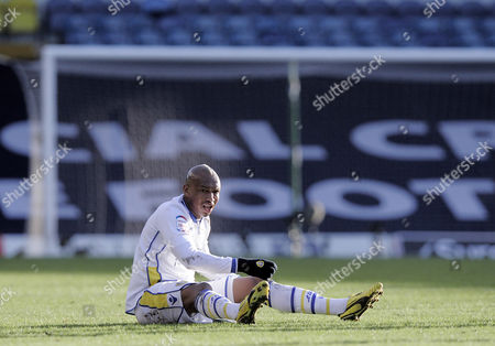 El-hadji Diouf of Leeds United After Being Fouled United Kingdom Leeds