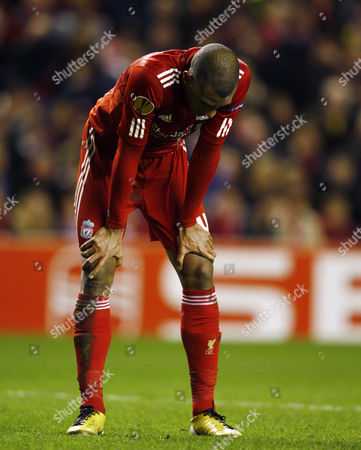 David N'gog of Liverpool Looks Dejected United Kingdom Liverpool