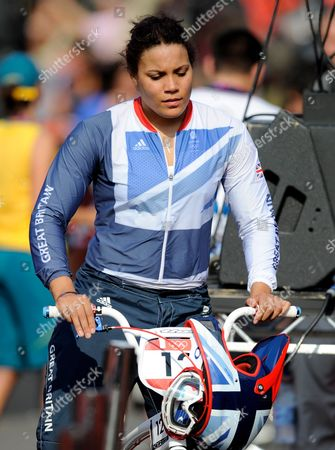 A Dejected Shanaze Reade of Great Britain (12) After the Women's Bmx Final at the Bmx Track As Part of the 2012 London Olympics - London Uk - 10 August 2012