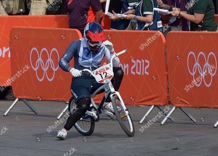 Shanaze Reade of Great Britain Reacts After Finishing in A Non Medal Position During the Women's Bmx Final As Part of the London 2012 Summer Olympic Games Bmx Track London