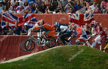 Shanaze Reade of Great Britain (c) in Action During the Women's Bmx Final As Part of the London 2012 Summer Olympic Games Bmx Track London