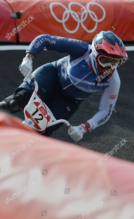 Shanaze Reade of Great Britain in Action During the Women's Bmx Final As Part of the London 2012 Summer Olympic Games Bmx Track London