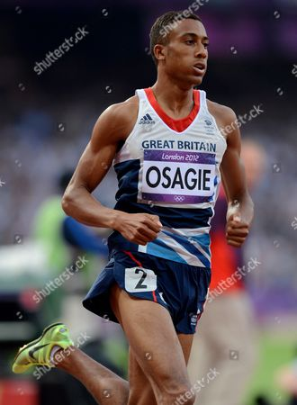 Andrew Osagie of Great Britain During the Men's 800m Final at the Olympic Stadium As Part of the 2012 London Olympic Games - London Uk - 09 August 2012 United Kingdom