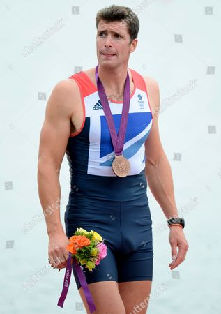 Greg Searle of Great Britain After Receiving His Bronze Medal For the Rowing Men's Eight at Eton Dorney During the 2012 London Olympics - London Uk - 01 August 2012