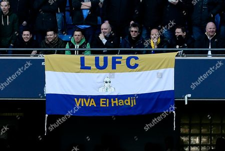 Leeds United Fans Display A Banner in Support of El-hadji Diouf United Kingdom Manchester