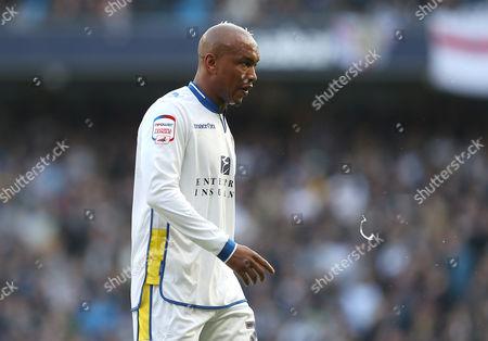 El-hadji Diouf of Leeds United Spits United Kingdom Manchester