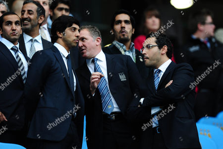 Manchester City Owner Sheikh Mansour Left Talks to Chief Executive Garry Cook United Kingdom Manchester
