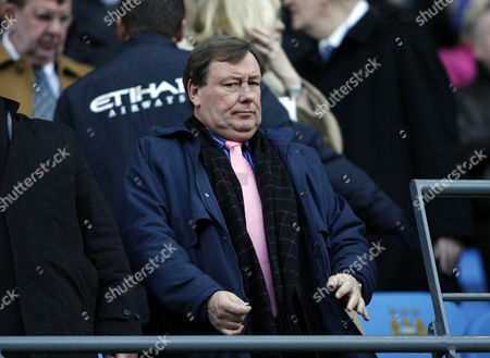Chief Executive Officer of Portsmouth Peter Storrie Looks On From the Stand United Kingdom Manchester