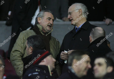 Frank Lampard Snr (left) in the Stand Before the Game United Kingdom Manchester