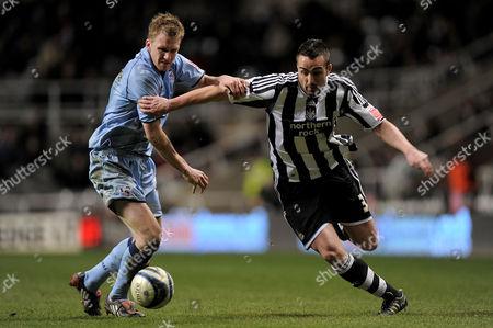 Jose Enrique of Newcastle United and Andrew Wright of Scunthorpe United United Kingdom Newcastle